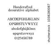 decorative alphabet.... | Shutterstock .eps vector #1038280087