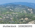 Small photo of Troodos mountains in Limnatis village from Cyprus, aerial view, 2018