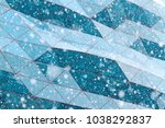 snow flakes on a background of... | Shutterstock . vector #1038292837