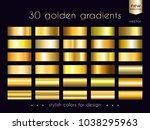 gold gradients collection. set... | Shutterstock .eps vector #1038295963