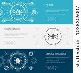 artificial intelligence 3... | Shutterstock .eps vector #1038306007