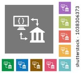 open banking api flat icons on... | Shutterstock .eps vector #1038306373