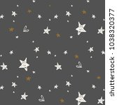 stars seamless pattern. vector... | Shutterstock .eps vector #1038320377
