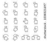 touch screen gestures icon set  ... | Shutterstock .eps vector #1038321697