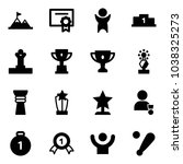 solid vector icon set  ...   Shutterstock .eps vector #1038325273