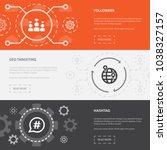 social media marketing 3... | Shutterstock .eps vector #1038327157