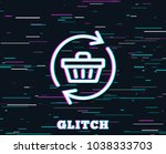 glitch effect. update shopping... | Shutterstock .eps vector #1038333703