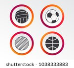 sport balls icons. volleyball ... | Shutterstock .eps vector #1038333883