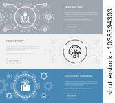 entrepreneurship 3 horizontal... | Shutterstock .eps vector #1038334303
