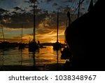 Hulls Of Sailboats In The San...