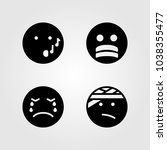 emotions vector icon set.... | Shutterstock .eps vector #1038355477