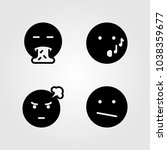 emotions vector icon set.... | Shutterstock .eps vector #1038359677