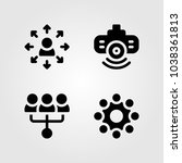 discussion vector icon set....   Shutterstock .eps vector #1038361813