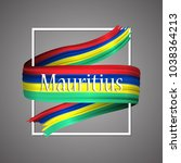mauritius flag. official... | Shutterstock .eps vector #1038364213