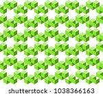geometric pattern of green...