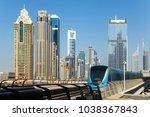 dubai  uae  jan 16 2018  a... | Shutterstock . vector #1038367843
