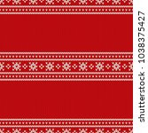 christmas holiday knitted... | Shutterstock .eps vector #1038375427