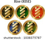 set of physical golden coin...   Shutterstock .eps vector #1038375787