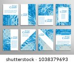 vector abstract background set. ... | Shutterstock .eps vector #1038379693