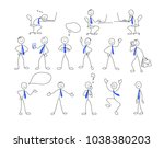 collection of stick figures.... | Shutterstock .eps vector #1038380203