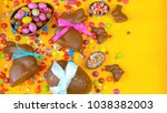 happy easter overhead with... | Shutterstock . vector #1038382003