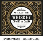 old whiskey label | Shutterstock .eps vector #1038392683