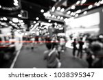 abstract blurred event with... | Shutterstock . vector #1038395347