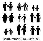 set of pictograms that... | Shutterstock .eps vector #1038396253