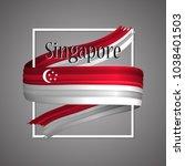 singapore flag. official... | Shutterstock .eps vector #1038401503