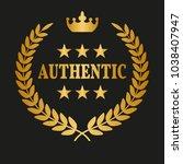 authentic laurel wreath on...   Shutterstock .eps vector #1038407947