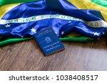 brazilian portfolio of work on... | Shutterstock . vector #1038408517