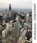 chicago skyline buildings | Shutterstock . vector #1038419047