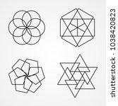 custom basic shape logo   Shutterstock .eps vector #1038420823