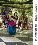 Belly Dancer In Motion With...