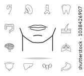 man chin icon. detailed set of...   Shutterstock .eps vector #1038426907