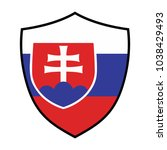 shield with flag slovakia....   Shutterstock .eps vector #1038429493