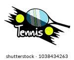 design of tennis symbol   Shutterstock .eps vector #1038434263