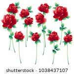 i made a beautiful rose a... | Shutterstock .eps vector #1038437107