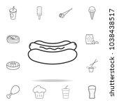 hot dog line icon. detailed set ...   Shutterstock .eps vector #1038438517