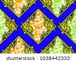 textile fashion african print...   Shutterstock .eps vector #1038442333
