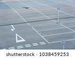 car park with empty parking lots | Shutterstock . vector #1038459253