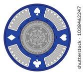 an ornate poker chip in vector...   Shutterstock .eps vector #1038462247