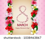 8 march international happy... | Shutterstock .eps vector #1038463867