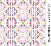 tribal seamless pattern. hand... | Shutterstock . vector #1038470437