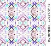 tribal seamless pattern. hand... | Shutterstock . vector #1038470443