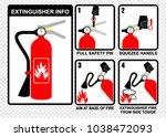 extinguisher info  vector | Shutterstock .eps vector #1038472093
