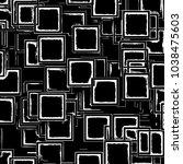 vintage image on black backdrop.... | Shutterstock .eps vector #1038475603