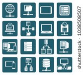 database and network icon set... | Shutterstock .eps vector #1038508507