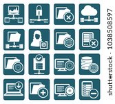 database and network icon set... | Shutterstock .eps vector #1038508597