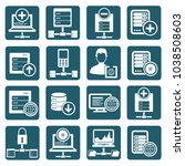 database and network icon set... | Shutterstock .eps vector #1038508603